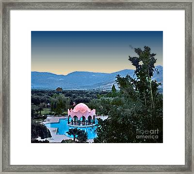 Hotel Chems La Tazarkout Framed Print by Linda  Parker