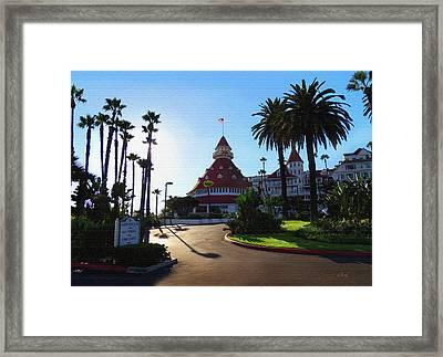 Hotel Del Coronado  Framed Print by Gordon Beck