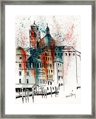 Hotel In Venice Framed Print by Callan Percy