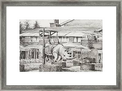 Hotel La Reserve Geneva Framed Print by Vincent Alexander Booth