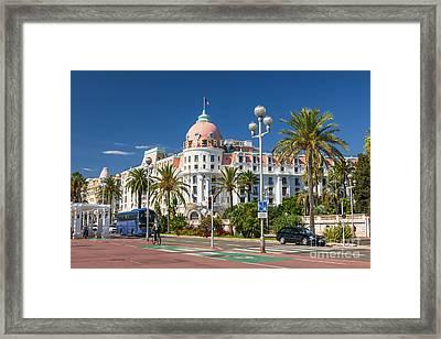 Hotel Negresco On English Promenade In Nice Framed Print by Elena Elisseeva