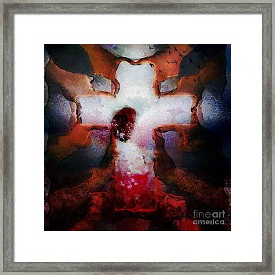 Hotty Totty Monkey Painted Angel Connected Framed Print by Catherine Lott