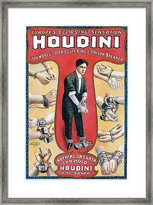 Houdini The Worlds Handcuff King Framed Print by Unknown