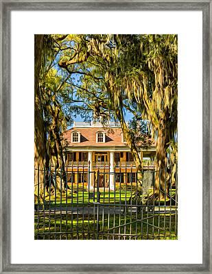Houmas House Plantation 2 - Paint Framed Print by Steve Harrington