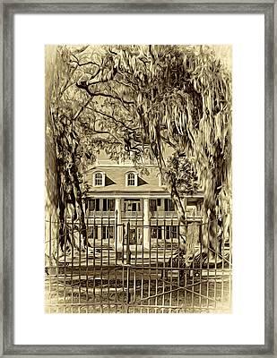 Houmas House Plantation 2 - Sepia Framed Print by Steve Harrington