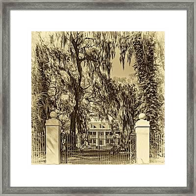 Houmas House Plantation 4 - Sepia Framed Print by Steve Harrington