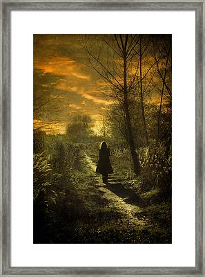Hour Of Long Shadows Framed Print by Cambion Art