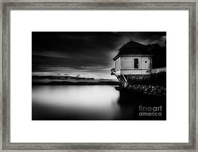 House By The Sea Framed Print by Erik Brede
