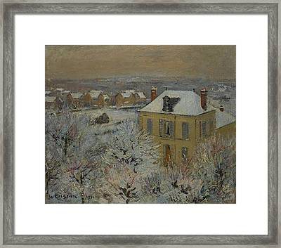 House In Winter Framed Print by Gustave Loiseau