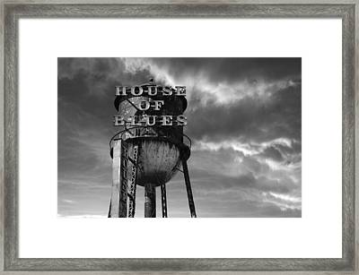 House Of Blues B/w Framed Print by Laura Fasulo