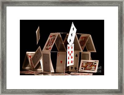 House Of Cards Framed Print by Jan Piller