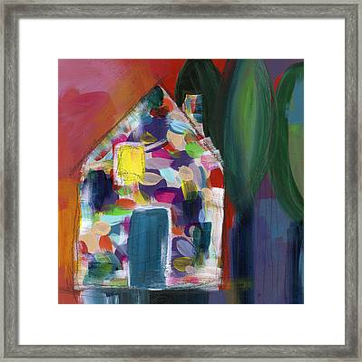 House Of Many Colors- Art By Linda Woods Framed Print by Linda Woods