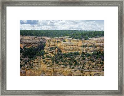 House Of Many Windows Mesa Verde Framed Print by Joan Carroll