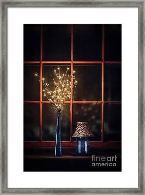 House Of Mystic Lights Framed Print by Evelina Kremsdorf