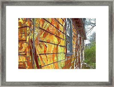 House Of Op Art Framed Print by Larry Bishop