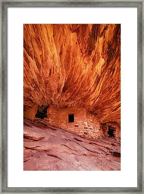 House On Fire Framed Print by Edgars Erglis