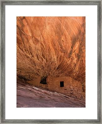 House On Fire Vertical Framed Print by Loree Johnson
