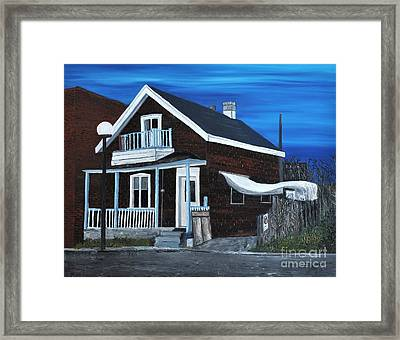 House On Hadley Street Framed Print by Reb Frost