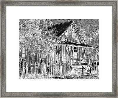 House On The Hill Framed Print by Athala Carole Bruckner