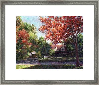 House On The Hill Framed Print by Susan Savad
