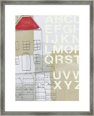 House Plans 2- Art By Linda Woods Framed Print by Linda Woods