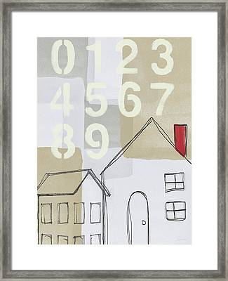 House Plans 3- Art By Linda Woods Framed Print by Linda Woods