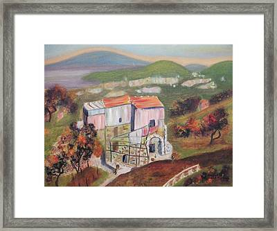 House Sorento Italy Framed Print by Suzanne  Marie Leclair