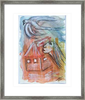 House Without A Door - Haus Ohne Tuer Framed Print by Mimulux patricia no
