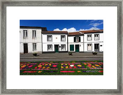 Houses In The Azores Framed Print by Gaspar Avila