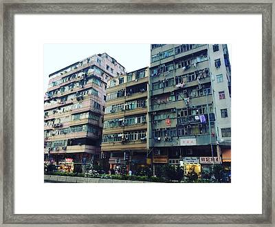 Houses Of Kowloon Framed Print by Florian Wentsch
