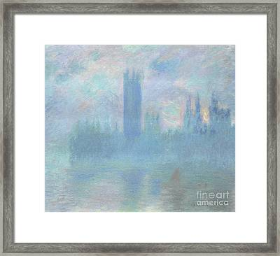 Houses Of Parliament  London Framed Print by Claude Monet
