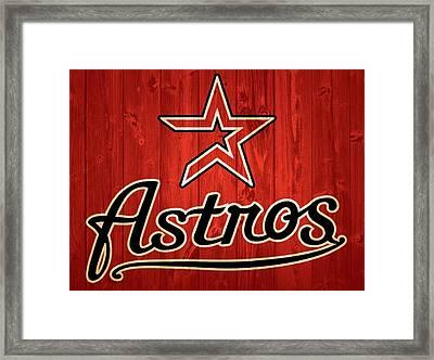 Houston Astros Barn Door Framed Print by Dan Sproul