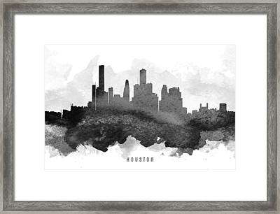 Houston Cityscape 11 Framed Print by Aged Pixel