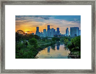 Houston Dawn Framed Print by Inge Johnsson