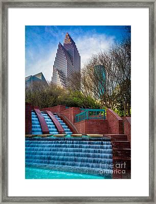 Houston Fountain Framed Print by Inge Johnsson