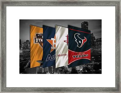 Houston Sports Teams 2 Framed Print by Joe Hamilton