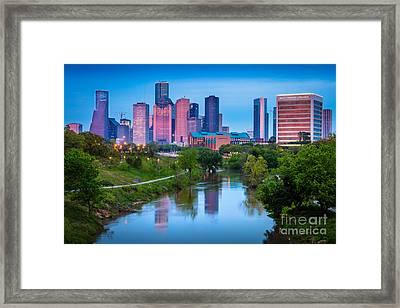 Houston Sunrise Framed Print by Inge Johnsson