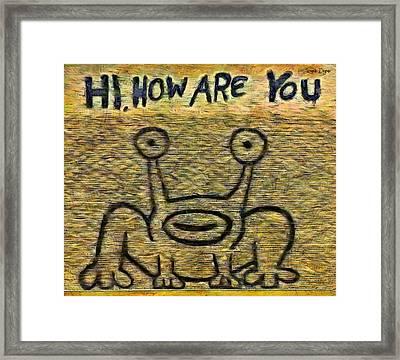 How Are You - Pa Framed Print by Leonardo Digenio