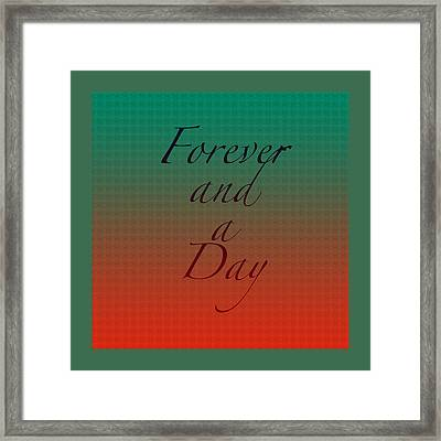 How Long I'll Love You Framed Print by Bonnie Bruno