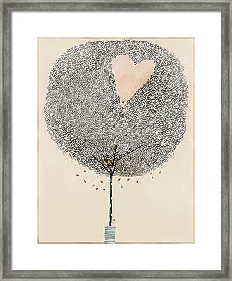 How Love Grows Framed Print by Bri B