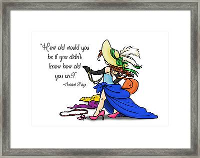 How Old Are You Framed Print by Rachel Marquez