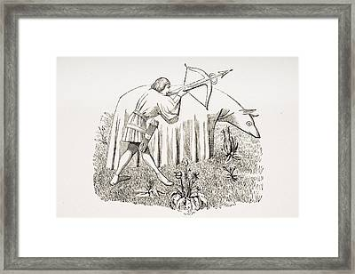 How To Carry A Cloth To Approach Framed Print by Vintage Design Pics