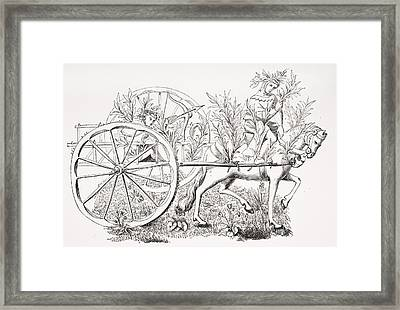 How To Take A Cart To Allure Beasts Framed Print by Vintage Design Pics