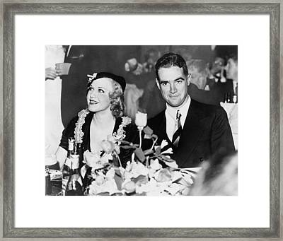 Howard Hughes Dated And Was Engaged Framed Print by Everett