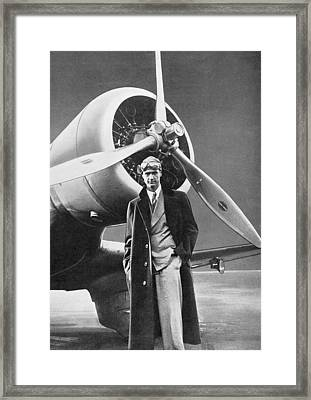 Howard Hughes, Us Aviation Pioneer Framed Print by Science, Industry & Business Librarynew York Public Library