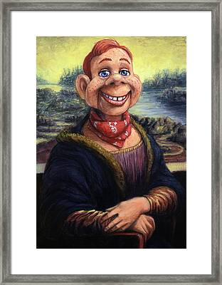 Howdy Doovinci Framed Print by James W Johnson