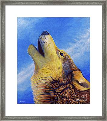 Howl Framed Print by Brian  Commerford