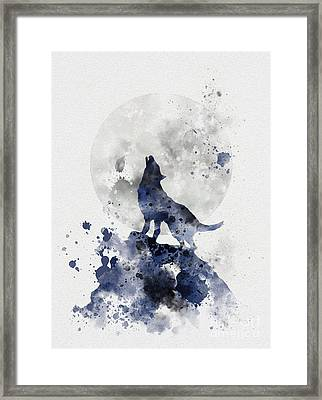 Howling Wolf Framed Print by Rebecca Jenkins