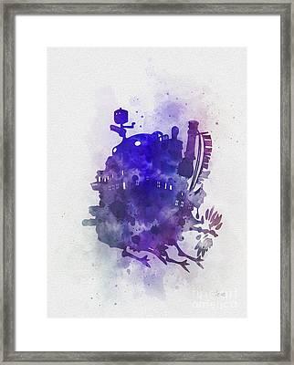 Howl's Moving Castle Framed Print by Rebecca Jenkins