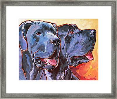 Howy And Iloy Framed Print by Nadi Spencer